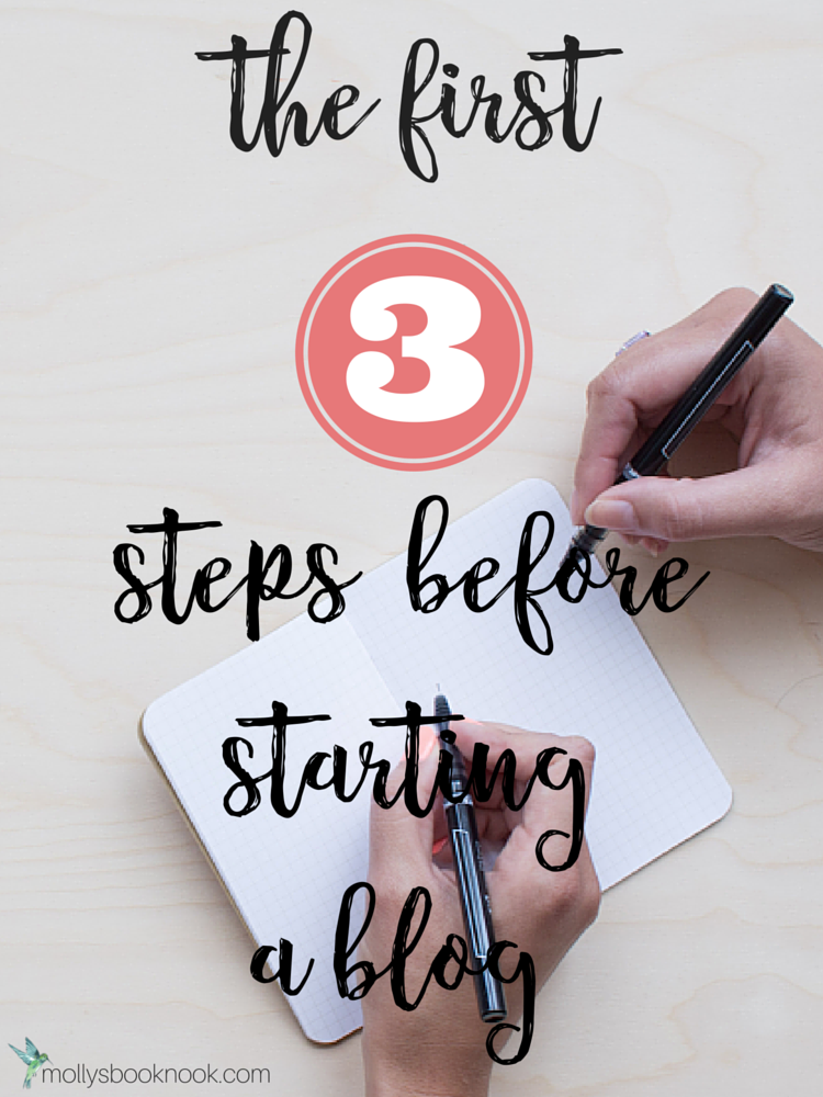 The 3 steps before starting a blog (6)